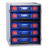STORAGETEK CABINET WITH 5 SMALL ABS CASES
