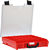 STORAGETEK SMALL ABS CASE RED - CLEAR LID