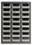 24 COMPARTMENTS ORGANISER STEEL CABINET