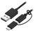 USB 2.0 TO MICRO USB + LIGHTNING ADAPTOR