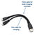 USB Y SPLITTER CABLE USB-AM TO 2x MICRO USB-M