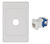 WALL PLATE WITH CAT6 RJ45 INSERT KIT