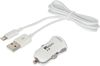 ADM75 2.1A Car Charger with single USB soclet with 0.6M Lightning lead - MFI