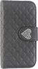 ALC6500-202 Leather Case With Cover and Diamond Heart-Black