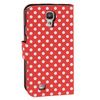 ALC6500-233 Dot Pattern Leather Case With Stand-Red