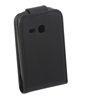 ALC6504-102 Vertical Leather Flip Case-Black