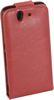 ALC686-133 Crazy Horse Leather Case With Flip Cover-Red