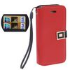 ALC9050-263 Leather Case Horizontal With Business Card Holder - Red