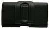 POU6456-101 Side Leather Carry Pouch (With Belt Clip)-Black