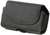 POU6478 Side Leather Carry Pouch (With Belt Clip)-Black