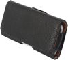POU9050 Side Carry Leather Pouch With Belt Clip, suits phone with size up to 122x55x15mm