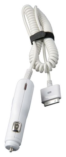 CAR CHARGER WITH APPLE™ 30 PIN CABLE