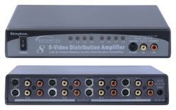 S-VIDEO & AUDIO X8 SPLITTER