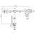 DUAL LCD MONITOR DESKTOP ARM