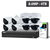 8 CHANNEL NVR WITH 4TB HDD & 8x 8MP IP FIXED LENS CAM KIT - WATCHGUARD