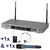 DUAL UHF WIRELESS SYSTEM - RECEIVER & TWO TRANSMITTERS