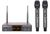 UHF WIRELESS MICROPHONES WITH 2CH RECEIVER - SONKEN WM2500